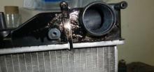 Ремонт бачка радиатора