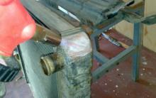 Пайка радиатора охлаждения двигателя автомобиля